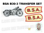 BSA B30 Transfer and Decal Sets
